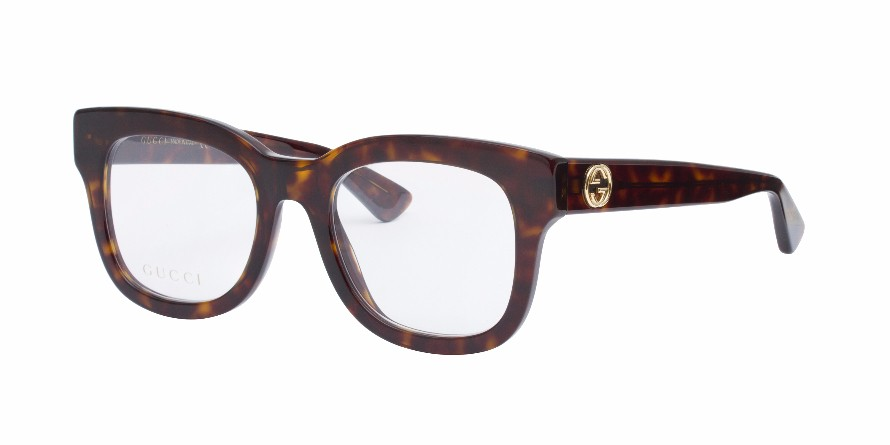 Gucci Tortoise Eyeglass Frames : GUCCI 0033O Dark Tortoise - Eyeglasses