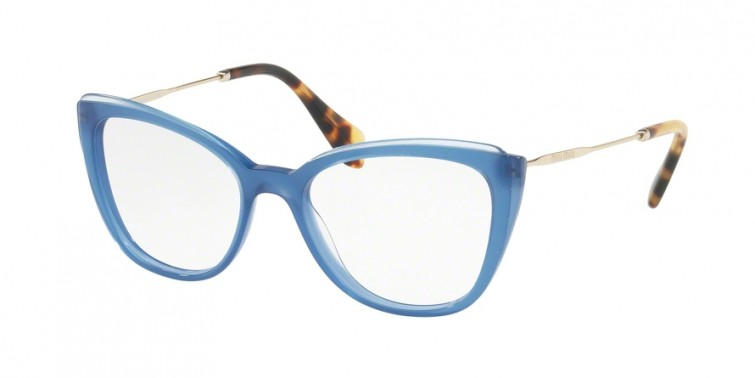 MIU MIU 02QV Blue/Top Transparent Blue