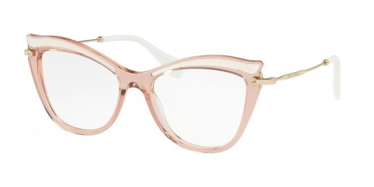 MIU MIU 06PVA Transparent Pink