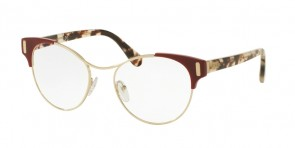 Prada 08TV Spotted Op Brown/Spotted Red