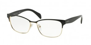 Prada 65RV Black On Pale Gold