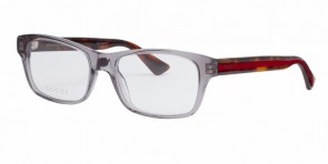 GUCCI 0006O Grey Havana Transparent