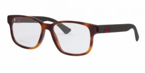 GUCCI 0011O Havana Brown Transparent