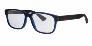 GUCCI 0011O Blue Black Transparent