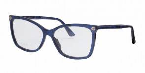 GUCCI 0025O Blue Transparent
