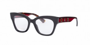 GUCCI 0060O Black/Havana/Transparent