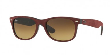 Ray-Ban 2132 Black/Top Bordo' Alcantara