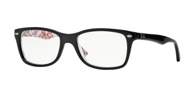 Ray-Ban 5228 Top Black On Texture White
