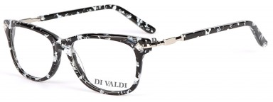 DIVALDI 8046 Black & White Marbled & Silver