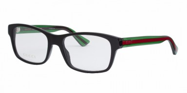 GUCCI 0006O Black Green Transparent