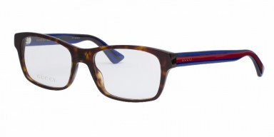 GUCCI 0006O Havana Blue Transparent
