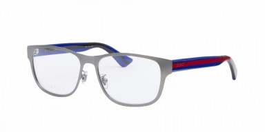 GUCCI 0007O Silver/Blue Transparent/Red