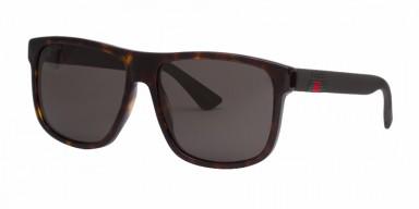 GUCCI 0010S Havana Brown Grey
