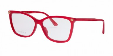 GUCCI 0025O Red Transparent