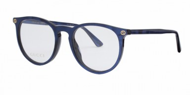GUCCI 0027O Blue Transparent