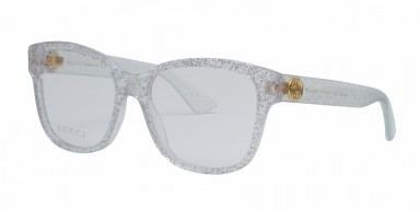 GUCCI 0038O Silver Transparent