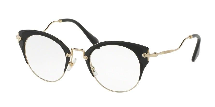 0861553792992d Miu Miu 52PV Pale Gold Matte Black Black - Women s Eyeglasses ...