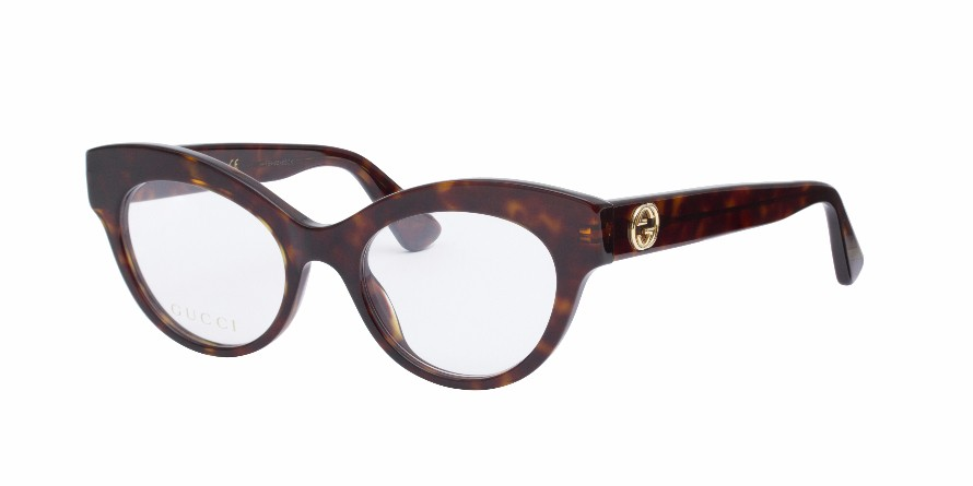 Gucci Tortoise Eyeglass Frames : GUCCI 0030O Dark Tortoise - Eyeglasses